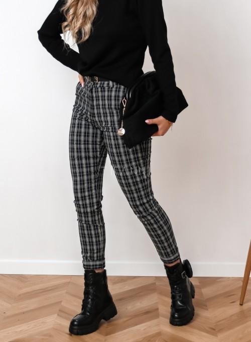 Spodnie Mallena szaro-czarne 2