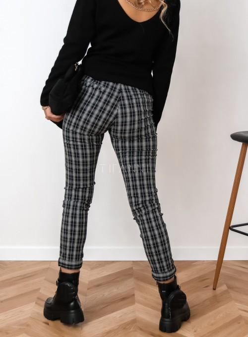 Spodnie Mallena szaro-czarne 3