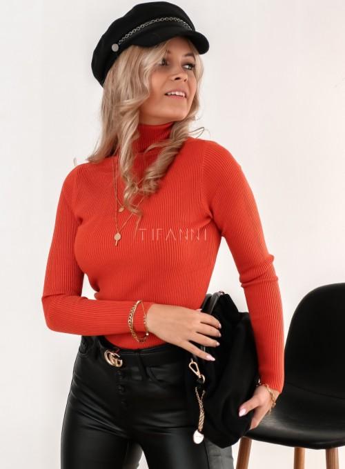Sweter golf dopasowany orange