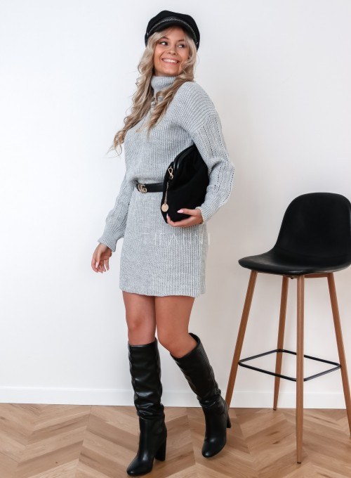 Sukienka z golfem Blanca szara 2