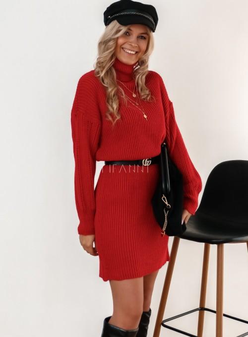 Sukienka z golfem Blanca czarwona 4