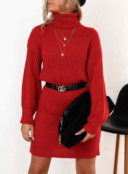 Sukienka z golfem Blanca czarwona 2