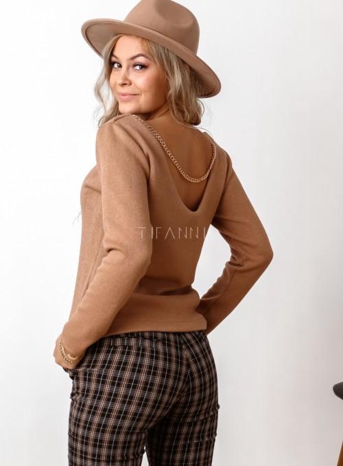 Sweter Zina karmelowy