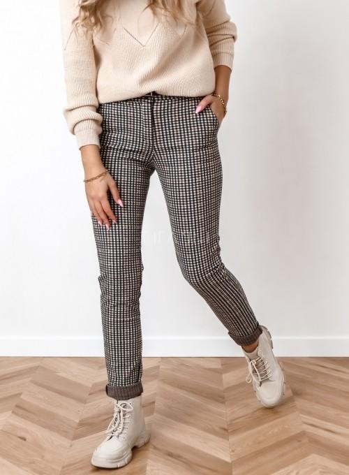 Spodnie Mallena beżowo- czarne