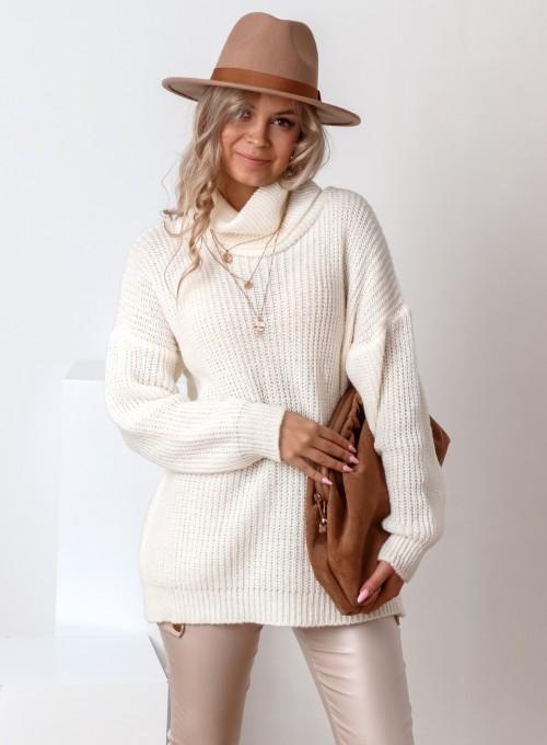 Sweter golf Cally śmietankowy 5