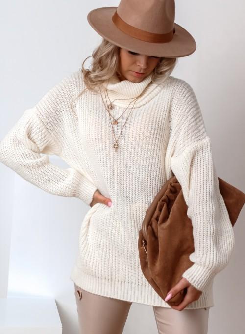 Sweter golf Cally śmietankowy 1