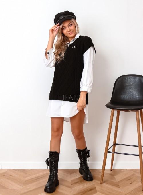 Kamizelka swetrowa Felia czarna 2