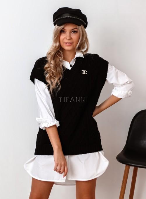 Kamizelka swetrowa Felia czarna 4