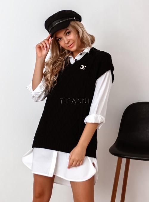 Kamizelka swetrowa Felia czarna 5