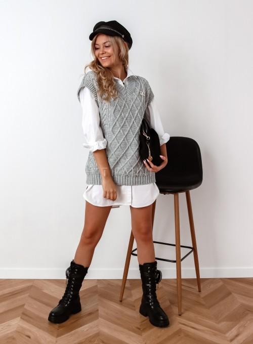 Kamizelka swetrowa Felia szara 1