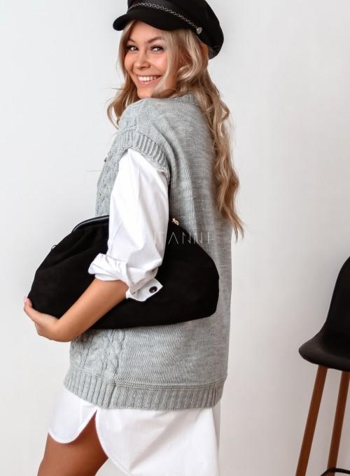 Kamizelka swetrowa Felia szara 5