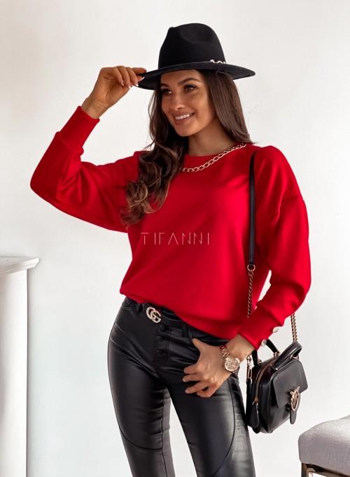 Sweter Dori w kolorze czerwonym