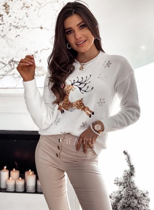 Sweter alpakowy z reniferkiem