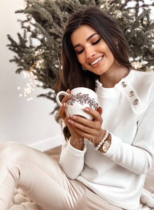 Bluzka swetrowa Joli z ozdobnymi guziczkami