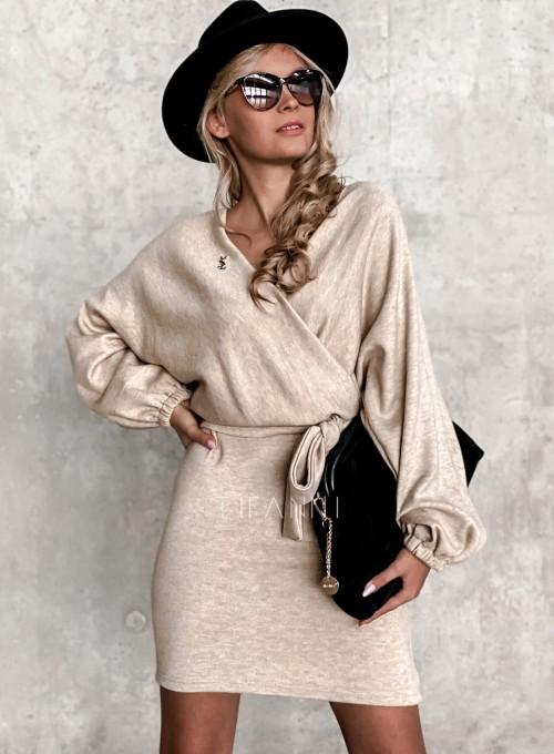 Sukienka Clody beżowa