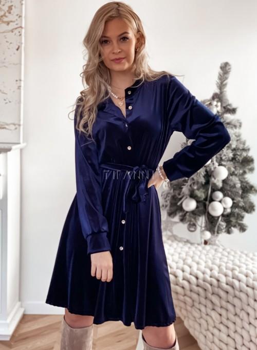 Aksamitna sukienka Stella granatowa 7