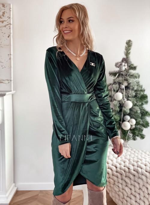 Sukienka Nadine butelkowa zieleń