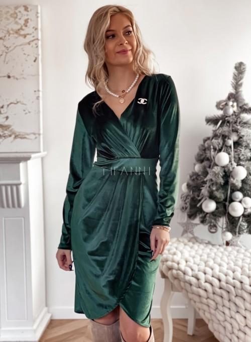 Sukienka Nadine butelkowa zieleń 2