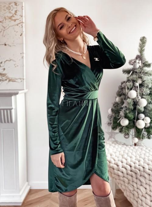 Sukienka Nadine butelkowa zieleń 4