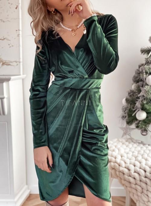 Sukienka Nadine butelkowa zieleń 1