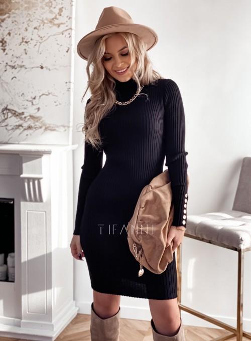 Sukienka z golfem Trace czarna