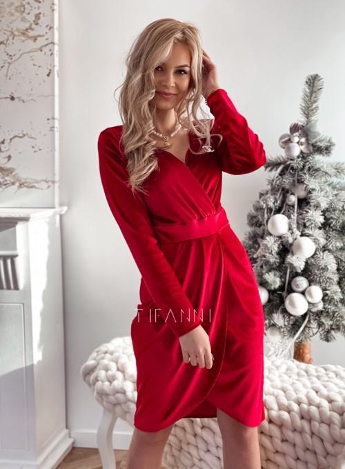 Sukienka Nadine Bordowa
