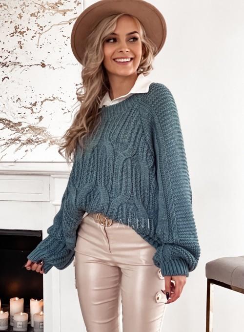 Sweter z warkoczem Luna