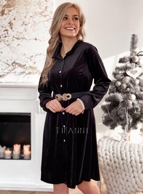 Aksamitna sukienka Stella czarna 2