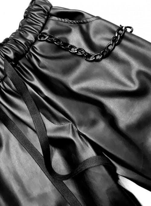 Woskowane spodnie Tonni czarne 1