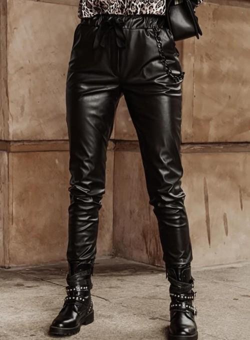 Woskowane spodnie Tonni czarne 2
