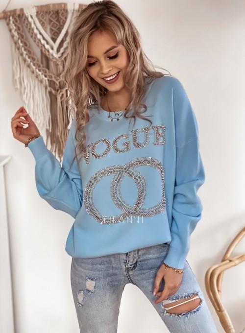 Bluza dzianinowa Vogue błękitna