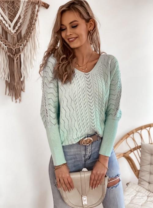 Sweter Baby miętowy 3