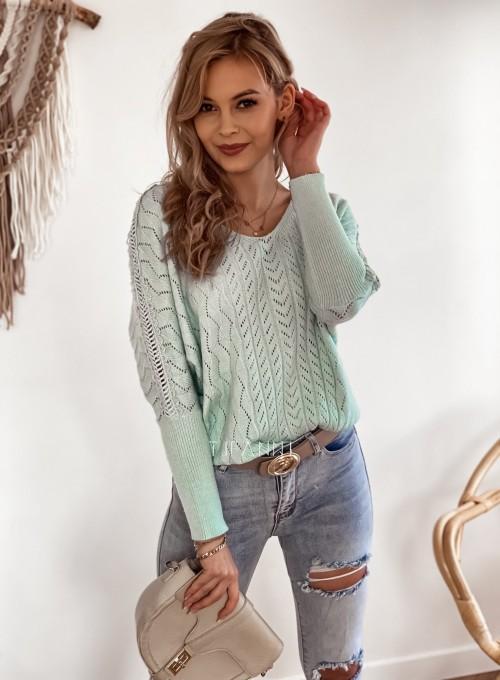 Sweter Baby miętowy 5