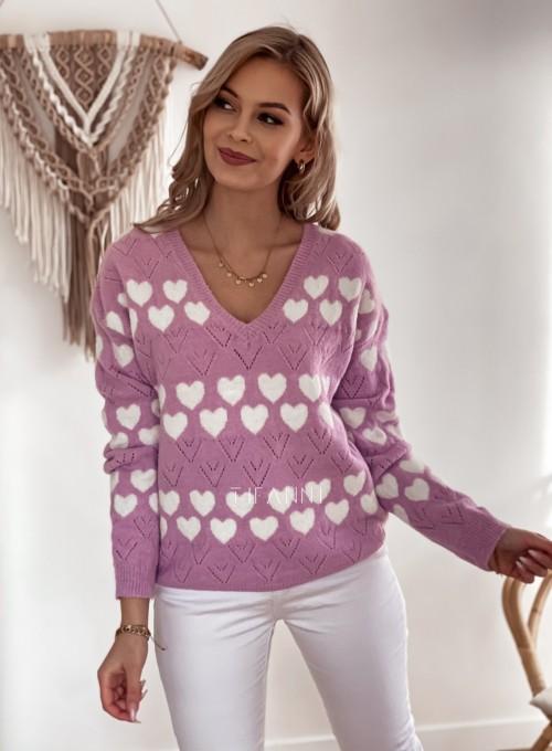 Sweter Malibu liliowy
