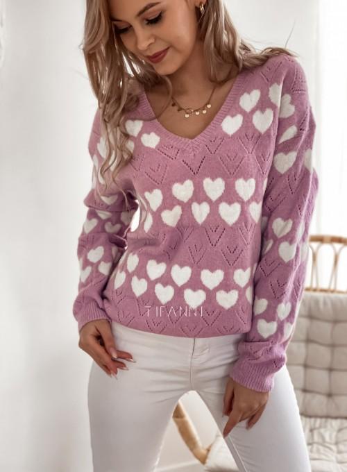 Sweter Malibu liliowy 1