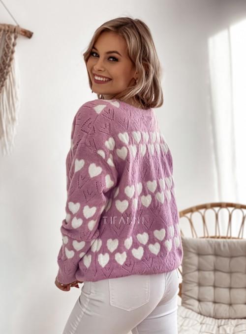 Sweter Malibu liliowy 2