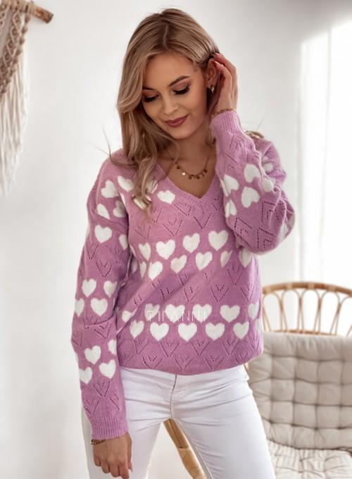 Sweter Malibu liliowy 3