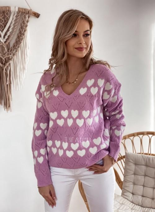 Sweter Malibu liliowy 4
