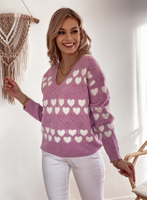 Sweter Malibu liliowy 5