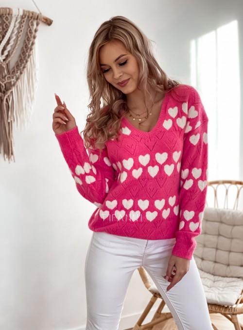 Sweter Malibu pink