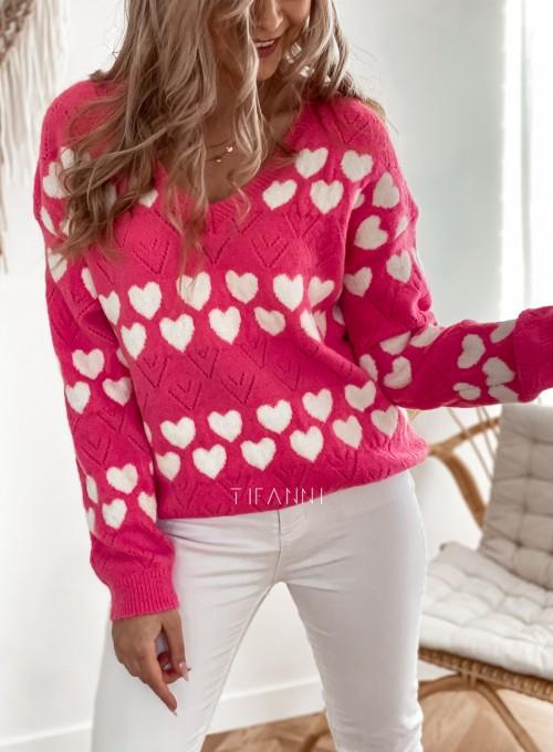 Sweter Malibu pink 2
