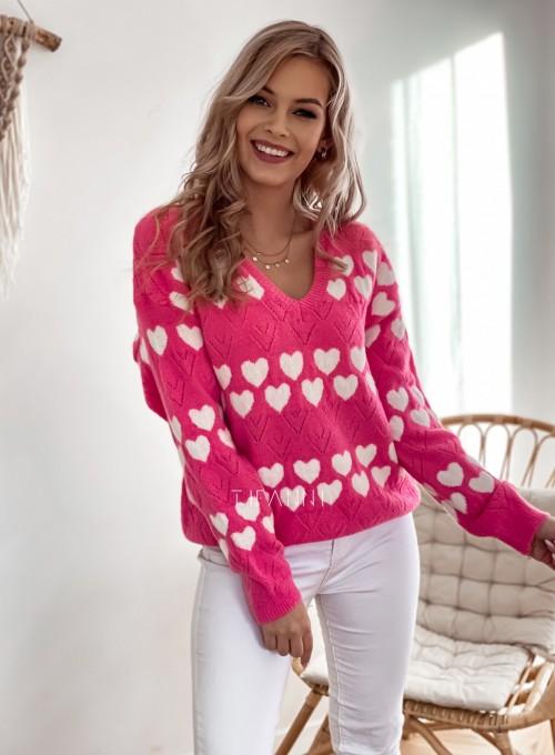 Sweter Malibu pink 3
