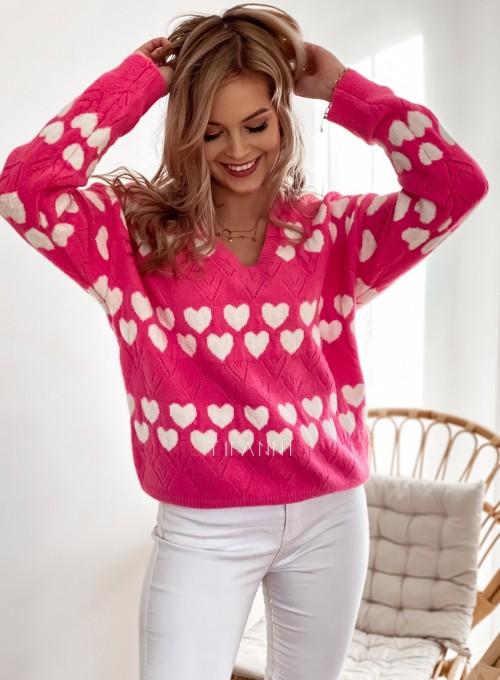 Sweter Malibu pink 1