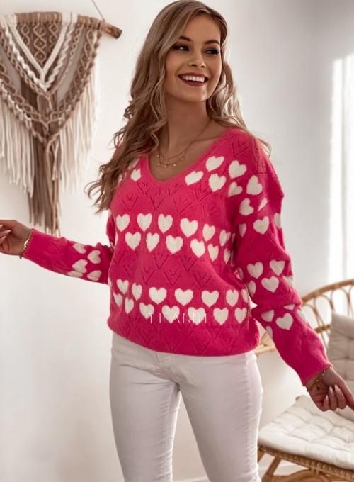 Sweter Malibu pink 5
