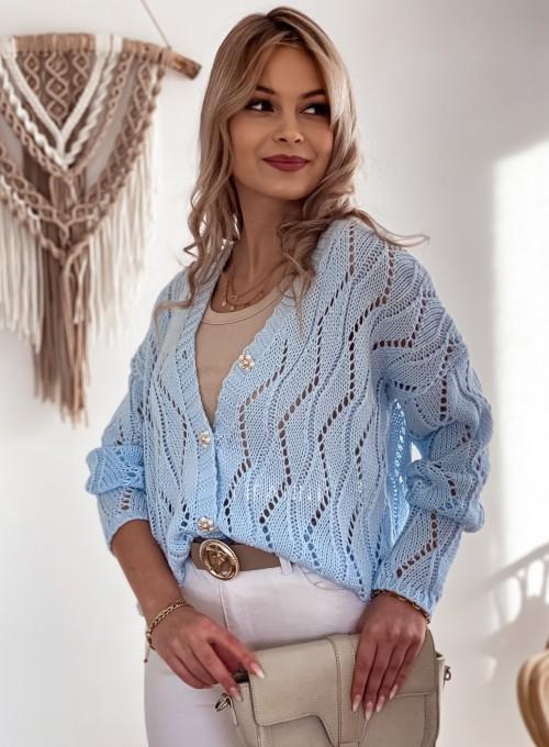 Sweter Pami rozpinany błękitny 1