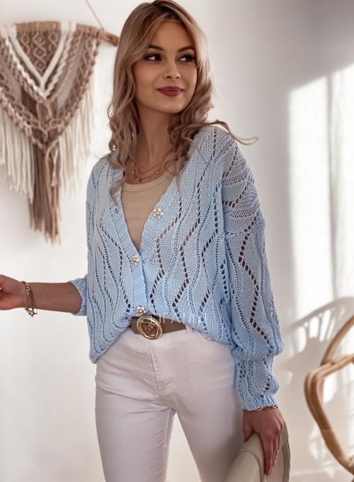 Sweter Pami rozpinany błękitny 4