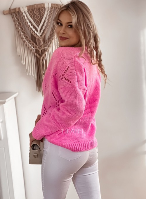 Sweter Casil rozpinany pink 1