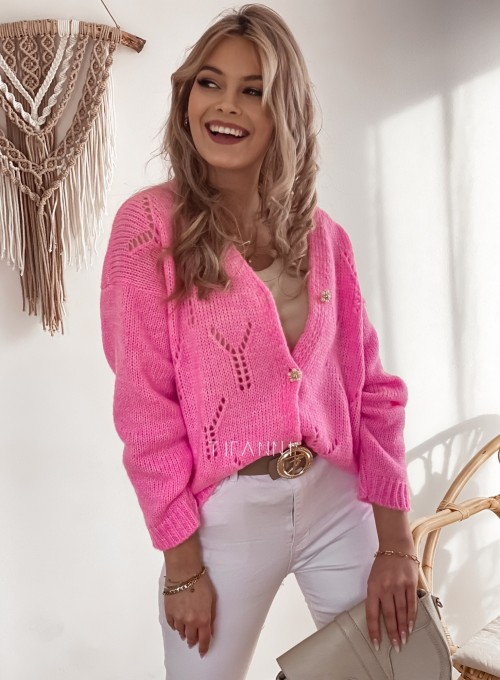 Sweter Casil rozpinany pink 2