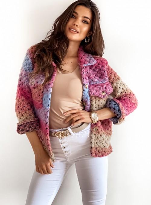 Kurtka koszulowa pink 2