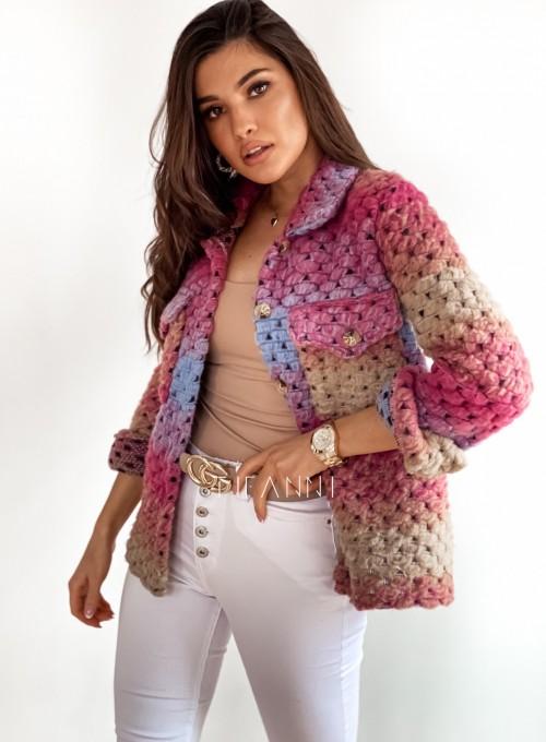 Kurtka koszulowa pink 4